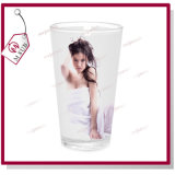 17oz Latte Glass Mug met White Patch door Mejorsub