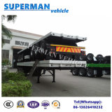 BPWの車軸が付いている三半車軸40FT貨物専用コンテナのトラックのトレーラー