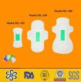 Garniture sanitaire Ml-280mm de coton ultra mince de femme d'usine
