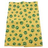 Pano não tecido da tela do poliéster, toalha de secagem do animal de estimação não tecido multifacetado alaranjado da cor