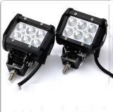 Barra ligera caliente de la venta 18W LED, 4 luz dual del trabajo de la fila de la viga de la inundación del CREE de la pulgada 18W