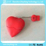 Lecteur flash USB rouge fait sur commande de modèle de coeur avec le logo (ZYF5033)