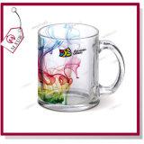 la taza de cristal transparente de la sublimación 11oz con crea para requisitos particulares