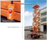 El mueble Scissor la plataforma de trabajo aéreo de la elevación
