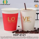 Einzelnes Wand-heißes Espresso-Papiercup mit kundenspezifischer Größe (HDP-0121)