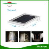 Luz solar ao ar livre psta solar impermeável da parede do sensor de movimento da luz PIR do diodo emissor de luz do brilho elevado 25