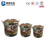 Sgabello rotondo di cuoio afflitto dell'unità di elaborazione del caffè dell'insieme 3 (SCRS00063)