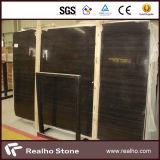 Laje de mármore de madeira preta pura da alta qualidade