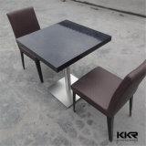 黒い家具の人工的な石造りの正方形のコーヒーテーブル