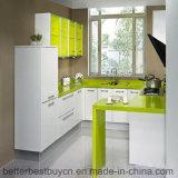 Шкаф мебели кухни лоска лака законченный высокий