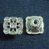 Квадратная кнопка джинсыов металла кристаллический стекла формы