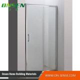 Rectángulo de aluminio simple de la ducha con el vidrio transparente con la mejor calidad