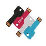 Movimentação feita sob encomenda do flash do USB da chave do logotipo para o presente da promoção