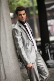 人の工場のための細い余暇のスーツのブレザーデザインカスタムスーツ