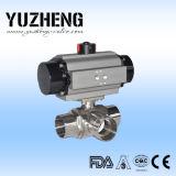 Válvula de esfera pneumática do tipo de Yuzheng com certificado do FDA
