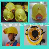 Het Werk GLB van de Mijnwerker van uitstekende kwaliteit en Helm, de Helm van de Explosiebestendige LEIDENE van de Mijnbouw Veiligheid van de Lamp, De Helm van de Veiligheid van de Mijnwerker met LEIDEN Licht