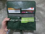 Бумажник женщин кожи типа сбор винограда, портмоне способа
