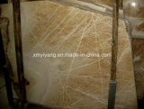 Top Sell Polished Resin Yellow Marble Slabs (YQC-MS1001)