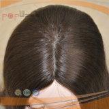Peluca superior de seda de las mujeres del pelo sin tocar negro de la Virgen