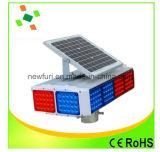 Blinkendes Solarverkehrszeichen-hellrotes blaues Verkehrssicherheit-Signal