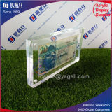 Support acrylique clair de billet de banque de la Chine 100