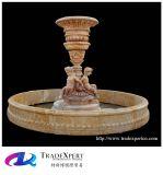 庭の装飾のための自然な大理石の石造りの切り分ける水彫像の噴水