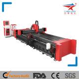 Máquina da marcação da gravura do corte do laser do meta da fibra do CNC da elevada precisão