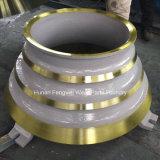 Gießerei-Zerkleinerungsmaschine-Abnützung zerteilt Kiefer-Platte und konkaves
