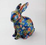 Volles Abziehbild-fertigen reizende Kaninchen-Bild-Einsparung-Münzen-Bank kundenspezifisch an