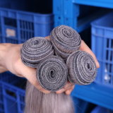 끈, 다른 유형 중국 Virgin 머리를 위한 회색 사람의 모발