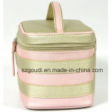 Goldene Shinning PU Fashion Toiletry Cosmetic Bag für Promotional