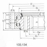 Boucle interne de plaque tournante de vitesse de bille de rangée de double de grue à tour pour Doosan