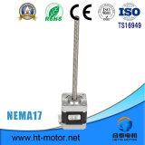 Motor de escalonamiento híbrido linear de la nema 17 con el tornillo de posicionamiento