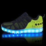 Nieuwe Toevallige LEIDENE van de Stof Flyknit van de Aankomst 2016 Unisex- Comfortabele Gloeiende Tennisschoenen, Kleurrijke Navulbare LEIDENE Schoenen