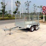 aanhangwagen de met 4 wielen van de Stortplaats van de As Achter elkaar voor Verkoop (swt-TT85)