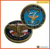 Ovale Lieferungs-Münze USA-silberne Zink-Legierungs-Metallmünze der Form-3D (JINJU16-039)