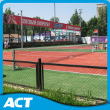 Erba artificiale fibrillata per verde rosso della corte di tennis