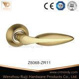 Покрынная золотом ручка двери Zamak цинка с квадратным Rose (Z6063-ZR09)