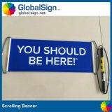 Рекламирующ завальцовку вентилятора любимчика, ручное знамя Scrolling (GHSC-L)