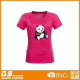 Camiseta de secado rápido de la manera de la impresión de la mezcla de las mujeres