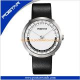 La montre de dames de mode futé de conception des hommes extra-plats de montre