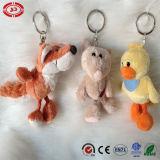 Fox 노란 오리 동물성 견면 벨벳에 의하여 채워지는 En71 Keychain 장난감