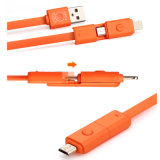 Omwenteling 2 in 1 Kabel USB voor iPhone en Andriod