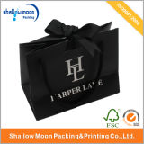 Kundenspezifisches Black Gift Paper Bag mit Ribbon (QYZ090)