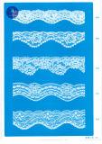 Merletto del tricot per vestiti/indumento/pattini/sacchetto/caso 3186 (larghezza: 7cm)