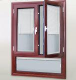Finestra di alluminio di vetro doppia verso l'interno d'apertura