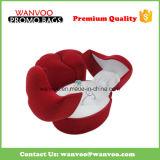 Коробка кольца ювелирных изделий бархата высокого качества изготовленный на заказ роскошная для венчания