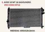 Radiatore di plastica di alluminio per Chevolet Aveo 09-10