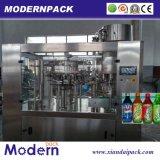 3 em 1 máquina de enchimento e tampando de enxaguadela da pressão da linha/bebida