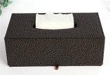 Caja de cuero del tejido de la PU del mejor arte hecho a mano excelente de la venta